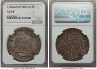 Philip V 8 Reales 1735 Mo-MF AU58 NGC, Mexico City mint, KM103. A lovely old world patina colors this well-struck and preserved example of this early ...