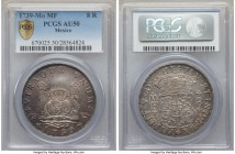 Philip V Pillar 8 Reales 1739 Mo-MF AU50 PCGS, Mexico City mint, KM103. A well defined example with attractive tones and some hints of blue.  HID99912...