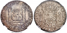 Ferdinand VI 8 Reales 1754/3 Mo-MF AU58 NGC, Mexico City mint, KM104.1. Bold in the centers with micro-granular fields and a clear overdate, the subdu...