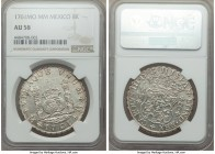 Charles III 8 Reales 1761 Mo-MM AU58 NGC, Mexico City mint, KM105. Tip of cross between H and I in legend. Evincing a striking level of detail with pr...