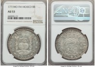 Charles III 8 Reales 1771 Mo-FM AU53 NGC, Mexico City mint, KM105. A fully wholesome specimen, with a nice detail expression throughout, and a brightn...