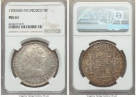 Charles III 8 Reales 1786 Mo-FM MS61 NGC, Mexico City mint, KM106.2a. A shimmering example beaming with soft autumnal hues on the reverse.   HID999121...