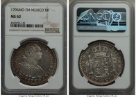 Charles IV 8 Reales 1796 Mo-FM MS62 NGC, Mexico City mint, KM109. A thoroughly impressive specimen, only a single piece finer in the NGC census of 44 ...