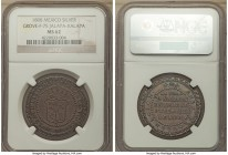 Jalapa. Ferdinand VII silver Proclamation Medal 1808 MS62 NGC, Grove-F-75, Medina-305. Captivating gunmetal surfaces reveal an undeniable brightness a...