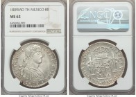Ferdinand VII 8 Reales 1809 Mo-TH MS62 NGC, Mexico City mint, KM110. Icy with slight device frosting and die polish lines on the back of the king's ne...