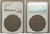 Sombrerete de Vargas. Ferdinand VII 8 Reales 1812 F12 NGC, KM177. A characteristically crude War of Independence issue, rather bright for the issue wi...