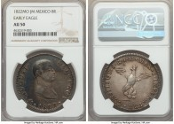 "Augustin I Iturbide ""Early Eagle"" 8 Reales 1822 Mo-JM AU50 NGC, Mexico City mint, KM304. A pleasant mix of darkened steel and argent tones, and only v..."