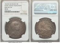 Augustin I Iturbide 8 Reales 1822 Mo-JM XF45 NGC, Mexico City mint, KM310. Variety with short uneven truncation. Notably well struck with good detaili...