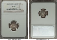 Republic 1/2 Real 1828/7 Mo-JM MS65 NGC, Mexico City mint, KM370.9. A sharp gem with gleaming surfaces. Very desirable as an early date in the series....