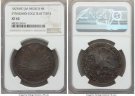 "Republic ""Hookneck"" 8 Reales 1823 Mo-JM XF45 NGC, Mexico City mint, KMA376.2, DP-Mo01. Flat-Top 3 variety. Very attractively struck for this emblemati..."