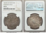 "Republic ""Hookneck"" 8 Reales 1824 Mo-JM AU50 NGC, Mexico City mint, KMA376.2. Some minor central weakness exists on the reverse, though this does not ..."