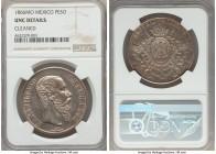 Maximilian Peso 1866-Mo UNC Details (Cleaned) NGC, Mexico City mint, KM388.1. A short-lived issue that always comes highly craved by collectors and en...