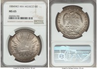 Republic 8 Reales 1884 Mo-MH MS65 NGC, Mexico City mint, KM377.1, DP-Mo69.  HID99912102018