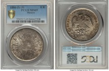 Republic 8 Reales 1886 Zs-JS MS65 PCGS, Zacatecas mint, KM377.13, DP-Zs71. A beautiful gem and highly alluring to the specialist interested in only th...