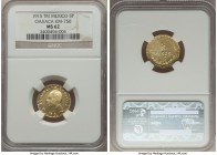 Oaxaca. Revolutionary gold 5 Pesos 1915-TM MS62 NGC, KM750. While generally crude elements are present in the style as is typical, a noteworthy degree...