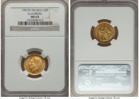 Estados Unidos gold 5 Pesos 1907-M MS65 NGC, Mexico City mint, KM464. AGW 0.1206 oz. Ex. Eliasberg Collection  HID99912102018
