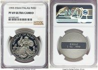 Republic palladium Proof Essai Dollar 1993 PR69 Ultra Cameo NGC, KM-Unl. Frosty and a dramatic cameo contrast. APDW 1.000 oz.  HID99912102018