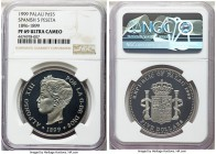 Republic palladium Proof 5 Dollars 1999 PR69 Ultra Cameo NGC, cf. KM16. An essentially flawless specimen from the International Coin Series paying hom...
