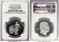 Republic palladium Proof 5 Dollars 1999 PR69 Ultra Cameo NGC, cf. KM19. An extremely rare striking in palladium from a mintage of only 7 pieces and pa...