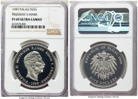 Republic palladium Proof 5 Dollars 1999 PR69 Ultra Cameo NGC, cf. KM17. Quite elusive as this piece is from a mintage of only 7 pieces. Displaying a p...
