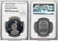 Republic palladium Proof 5 Dollars 1999 PR68 Ultra Cameo NGC, cf. KM22. One of only seven pieces struck as part of the International Coin Series. Fund...