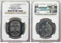 Republic palladium Proof 5 Dollars 1999 PR68 Ultra Cameo NGC, cf. KM24. Part of the International Coin Series, this issue was struck to commemorate Ge...