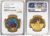 Republic gold Proof 200 Dollars 1998 PR69 Ultra Cameo NGC, cf. KM32. A lovely modern proof on the verge of perfection. AGW 0.9990 oz.  HID99912102018