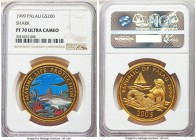 Republic gold Proof 200 Dollars 1999 PR70 Ultra Cameo NGC, Huguenin mint, KM37. A lovely modern proof and boasting an elite and perfect grade. AGW 0.9...