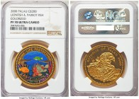 Republic gold Proof 200 Dollars 2000 PR70 Ultra Cameo NGC, KM-Unl, Fr-3. Lionfish & Parrot fish colorized. A glorious and perfect gem from the popular...