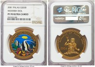 Republic gold Proof 200 Dollars 2001 PR70 Ultra Cameo NGC, KM-Unl, Fr-3. A beautiful and technically perfect coin from the popular Marine Life Protect...