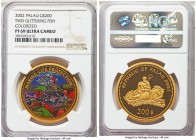 Republic gold Proof 200 Dollars 2002 PR69 Ultra Cameo NGC, KM-Unl, Fr-3. Intriguing design elements and a modern proof that is nearly perfect in execu...