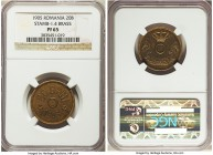 Carol I brass Proof Pattern 20 Ban 1905 PR65 NGC, KM-Pn88, Stamb-1.4. Struck in brass with no central hole - an elusive pattern, particularly in this ...