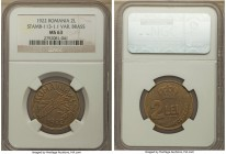 Ferdinand I brass Pattern 2 Lei 1922 MS63 NGC, KM-Pn191, Stamb-113-1.1. Solidly choice, full mint bloom, and an impressive definition expressed throug...
