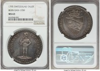 Bern. Canton Taler 1795 MS63 NGC, KM149, Dav-1759. A characteristically expressive Swiss taler, luminous will aged cabinet tone and ample peach and tu...