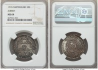 Zurich. Canton 20 Schillings 1776 MS64 NGC, KM160. Powerful old cabinet toning with a great amount of underlying luster. Not often encountered in such...