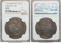 Zurich. Canton Taler 1716 AU53 NGC, KM135, Dav-1783. Evenly worn, with strong details on the devices and attractive old cabinet toning.   HID999121020...