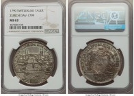 Zurich. Canton Taler 1790 MS63 NGC, KM176, Dav-1799. A detailed and gratifying specimen with a pleasing dispersion of accenting argent and aged copper...