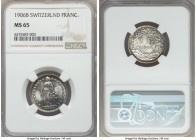 Confederation Franc 1906-B MS65 NGC, KM24. Radiant, with beautiful charcoal accents.  HID99912102018