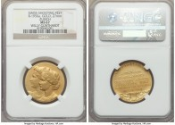 Confederation gold Awarded Zurich Shooting Festival Medal ND (c. 1930) MS67 NGC,  27mm, Richter-1950A (RR). By A. Boesch / Huguenin, Awarded to Willy ...