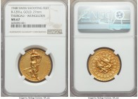 "Confederation gold ""Thurgau Shooting Festival"" Medal 1948 MS67 NGC, Richter-1291a. By Huguenin. Beautifully crafted and toned, with bright highlights ..."