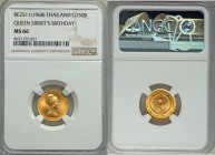 "Rama IX 3-Piece Lot of Certified ""Queen Sirikit's Birthday"" gold Baht BE 2511 (1968) NGC, 1) 150 Baht - MS66 NGC, KM-Y88 2) 300 Baht - MS68 NGC, KM-Y8..."