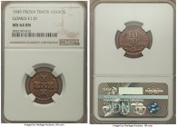 Portuguese Colony copper Prova 10 Avos MS64 Brown NGC, cf. KM5, Gomes-E1.01. With lightly toned surfaces exhibiting attractive mint luster.  HID999121...