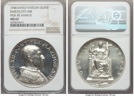 Pius XII 11-Piece Certified silver Medal Set NGC, 1) Anno II (1940) - MS62, Bartolotti-940 2) Anno III (1941) - MS63, Bartolotti-941 3) Anno X (1948) ...