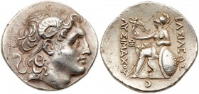 Thracian Kingdom. Lysimachos. Silver Tetradrachm (16.84 g), as King, 306-281 BC. Lampsakos, ca. 297/6-282/1 BC. Diademed head of deified Alexander rig...