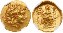 Pontic Kingdom. Mithradates VI. Gold Stater (8.28 g), 120-63 BC. Tomis, during the First Mithradatic War, 88-86 BC. Diademed head of Alexander the Gre...