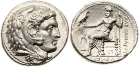 Seleukid Kingdom. Seleukos I Nikator. Silver Tetradrachm (17.18 g), 312-281 BC. Babylon II, in the name of Alexander III of Macedon, ca. 311-300 BC. H...