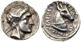 Seleukid Kingdom. Antiochos I Soter. Silver Drachm (4.02 g), 281-261 BC. Uncertain mint 26, associated with Aï Khanoum ('Mint C'), ca. 281 BC. Di...