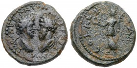 Judaea, Aelia Capitolina (Jerusalem). Marcus Aurelius and Lucius Verus. Æ (13.68 g), AD 161-180 and 161-169 respectively. Laureate, draped and c...