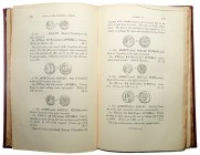 Madden, Frederic. History of Jewish Coinage and of Money in the Old and New Testament, London 1864. Contains 350 pages, 254 woodcuts and a folding pla...
