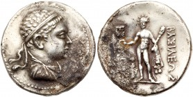 Baktrian Kingdom. Euthydemos II. Silver Tetradrachm (16.94 g), ca. 185-180 BC. Diademed and draped bust of Euthydemos II right. Reverse: BAΣI&La...